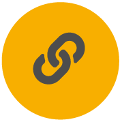 Ikona Pro-Tape koja prikazuje karike na lancu koji označavaju jaka ljepila i izdržive materijale