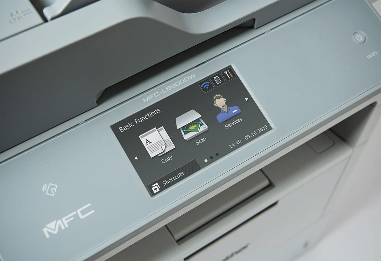 Dodirni zaslon s tri ikone na Brother višenamjenskom uređaju