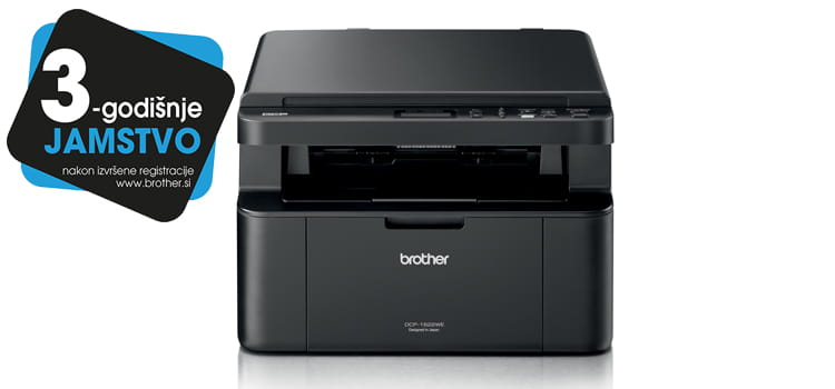 Brother Printer DCP-1622WE with logotype 3 years warranty