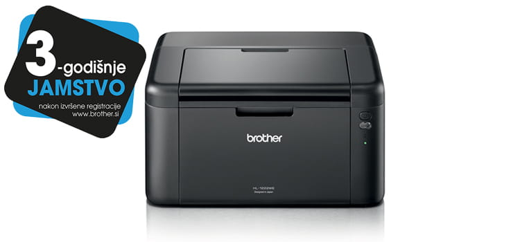 Brother Printer HL-1222WE with logotype 3 years warranty