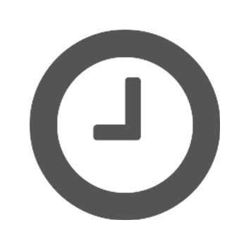 Siva ikona sata na bijeloj pozadini