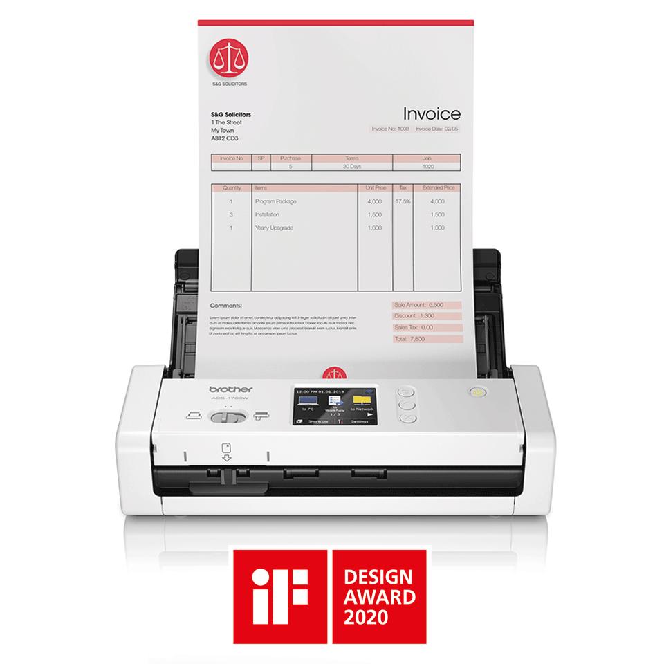 ADS-1700W  pametni kompaktan skener dokumenata 4