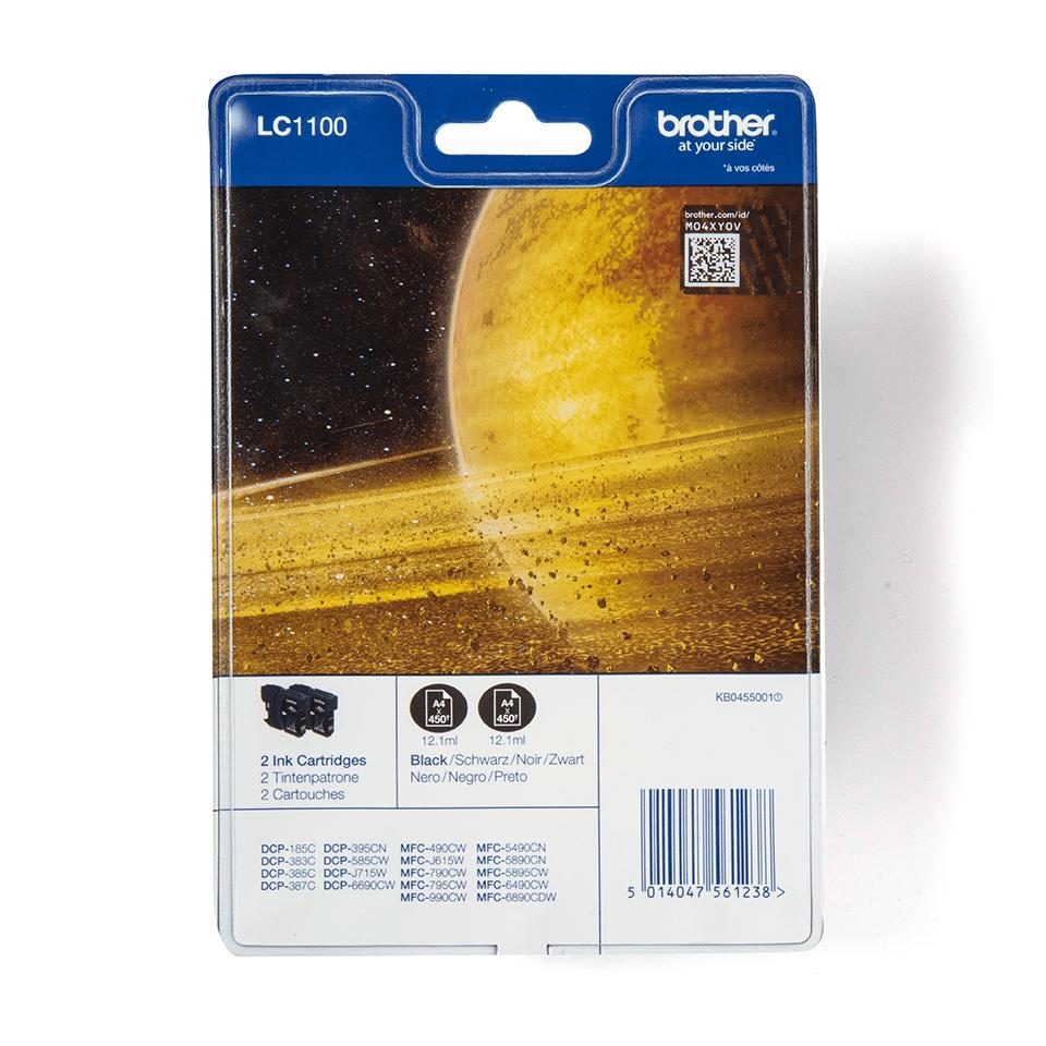 Originalan Brother LC1100BKBP2 spremnik tinte - crni (blister paket)