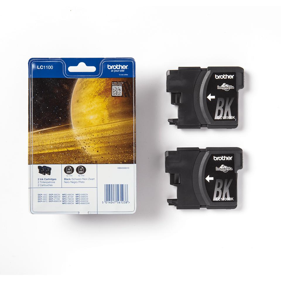 Originalan Brother LC1100BKBP2 spremnik tinte - crni (blister paket) 3