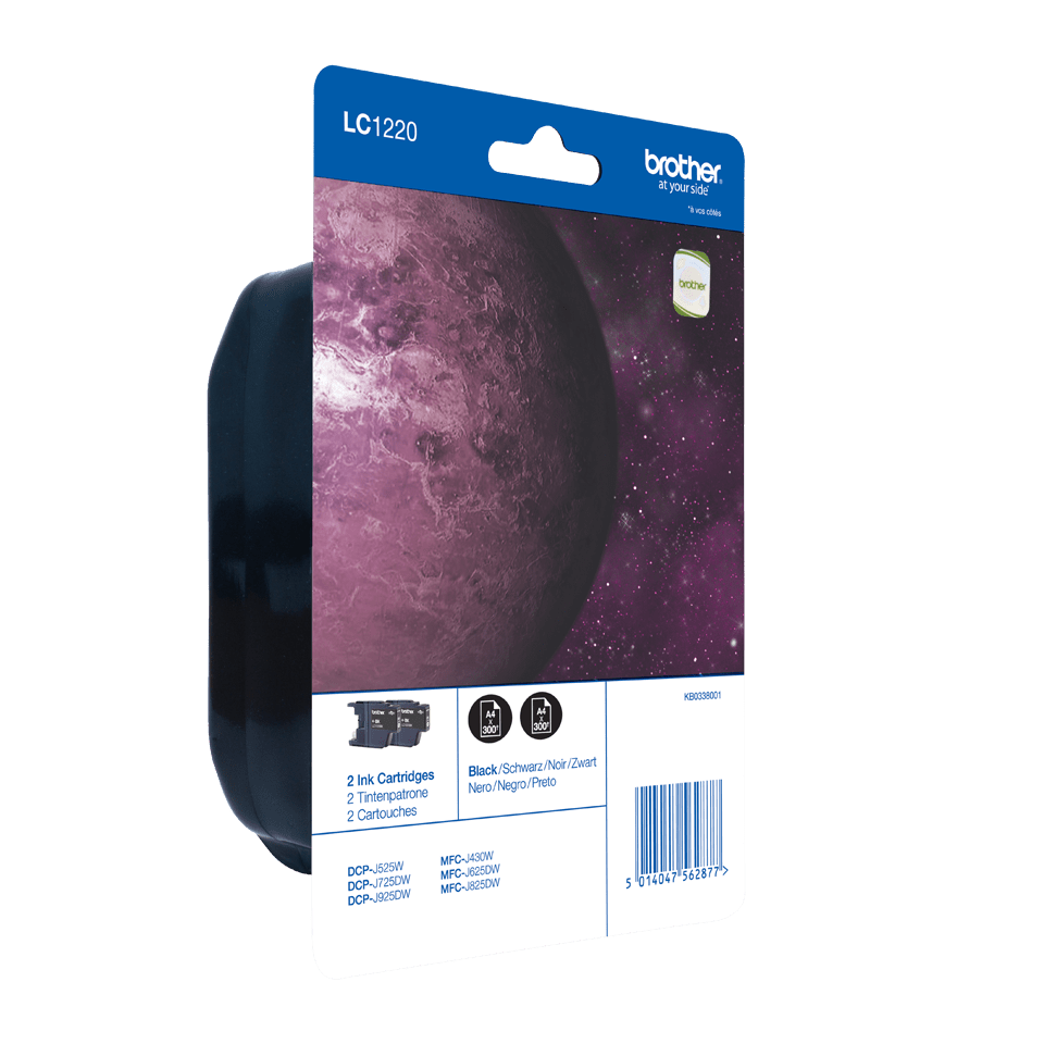 Originalan Brother LC1220BKBP2 spremnik tinte – crni (blister paket) 2