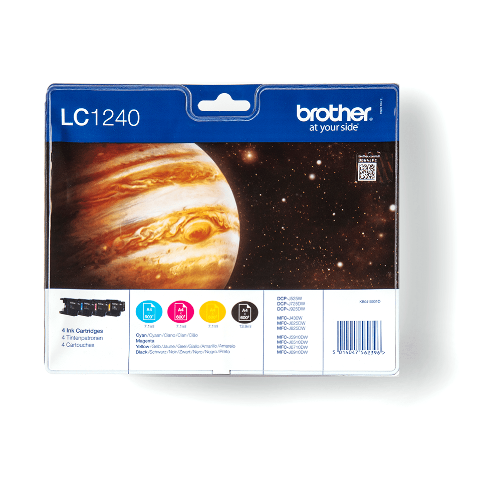Originalan Brother LC1240VALBP spremnik tinte - paket