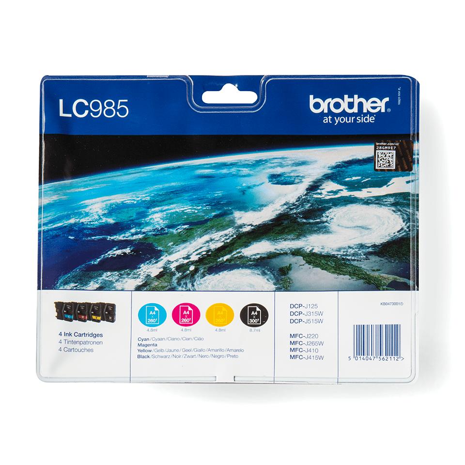 Originalan Brother LC985VALBP spremnik tinte - paket