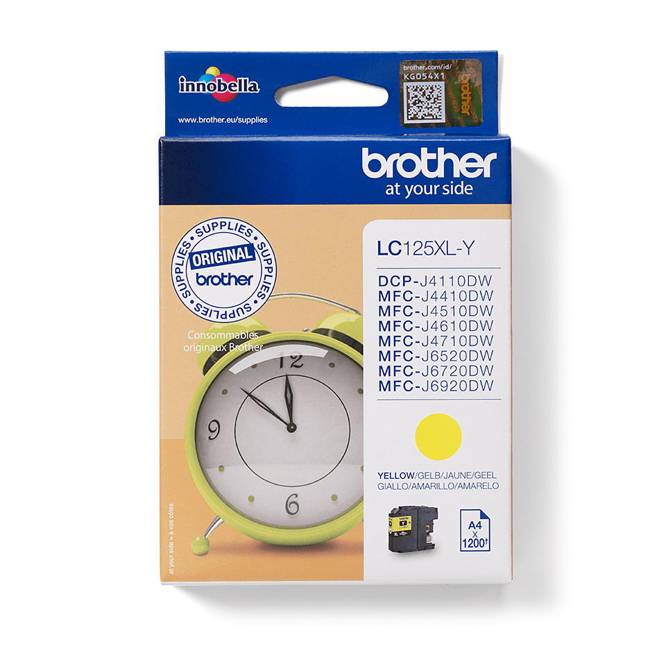 Genuine Brother LC125XLY Ink Cartridge – Yellow