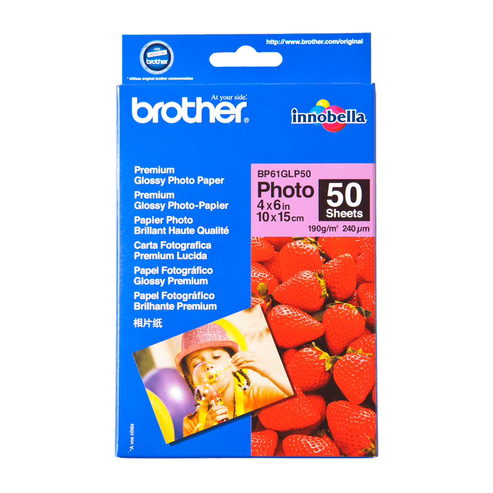 Originalan Brother BP61GLP50 10 cm x 15 cm sjajni foto papir