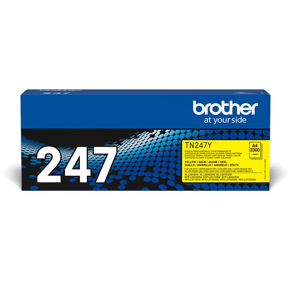 Originalni toner Brother TN-247Y – žuti