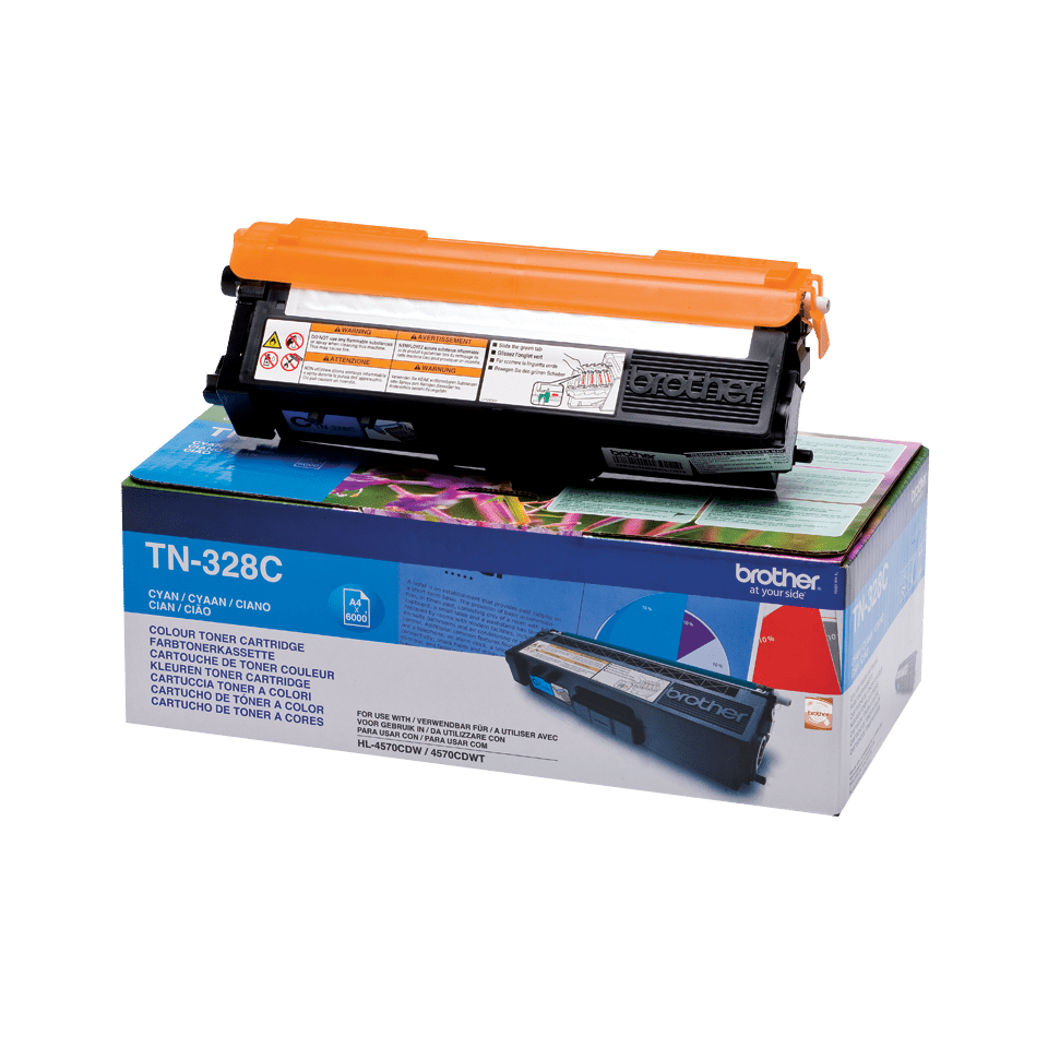 Originalan Brother TN-328C toner – cijan