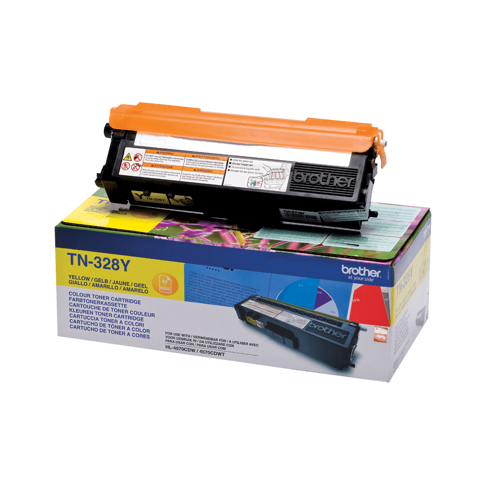 Originalan Brother TN-328Y toner – žuti