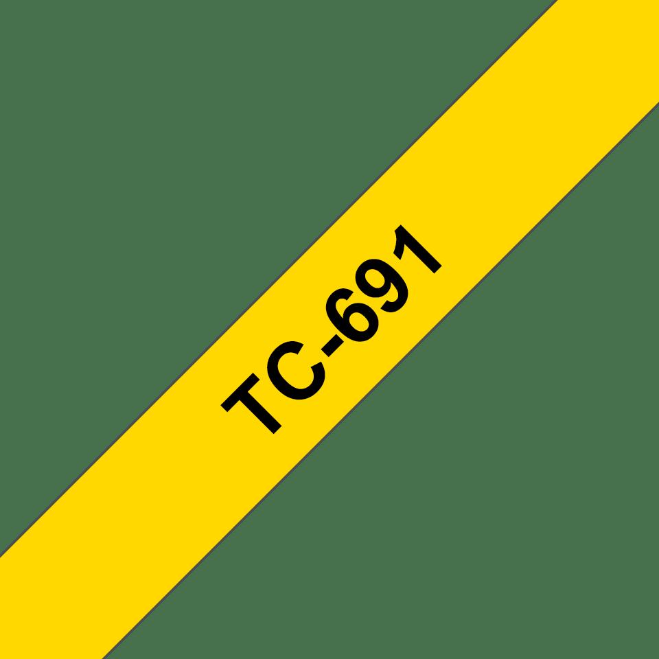 Originalna Brother TC-691 kaseta s trakom za označavanje