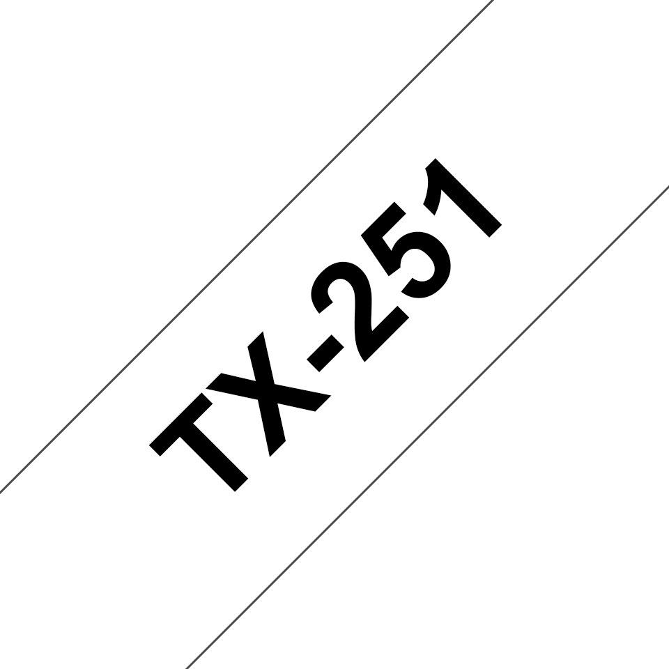 Originalna Brother TX-251 kaseta s trakom za označavanje