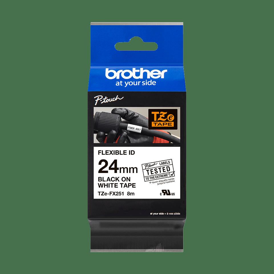 Originalna Brother TZe-FX251 kaseta s fleksibilnom ID trakom za označavanje 3