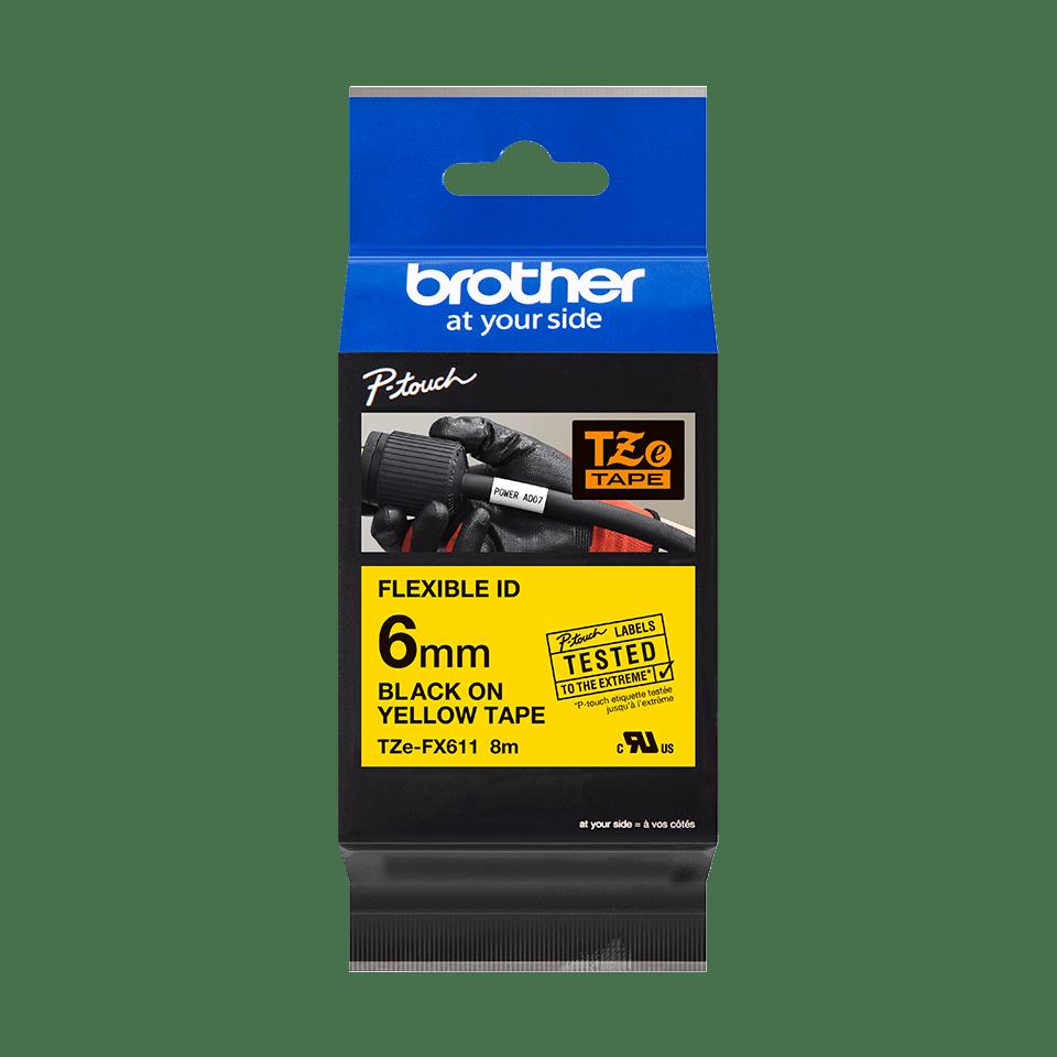 Originalna Brother TZe-FX611 kaseta s fleksibilnom ID trakom za označavanje 3