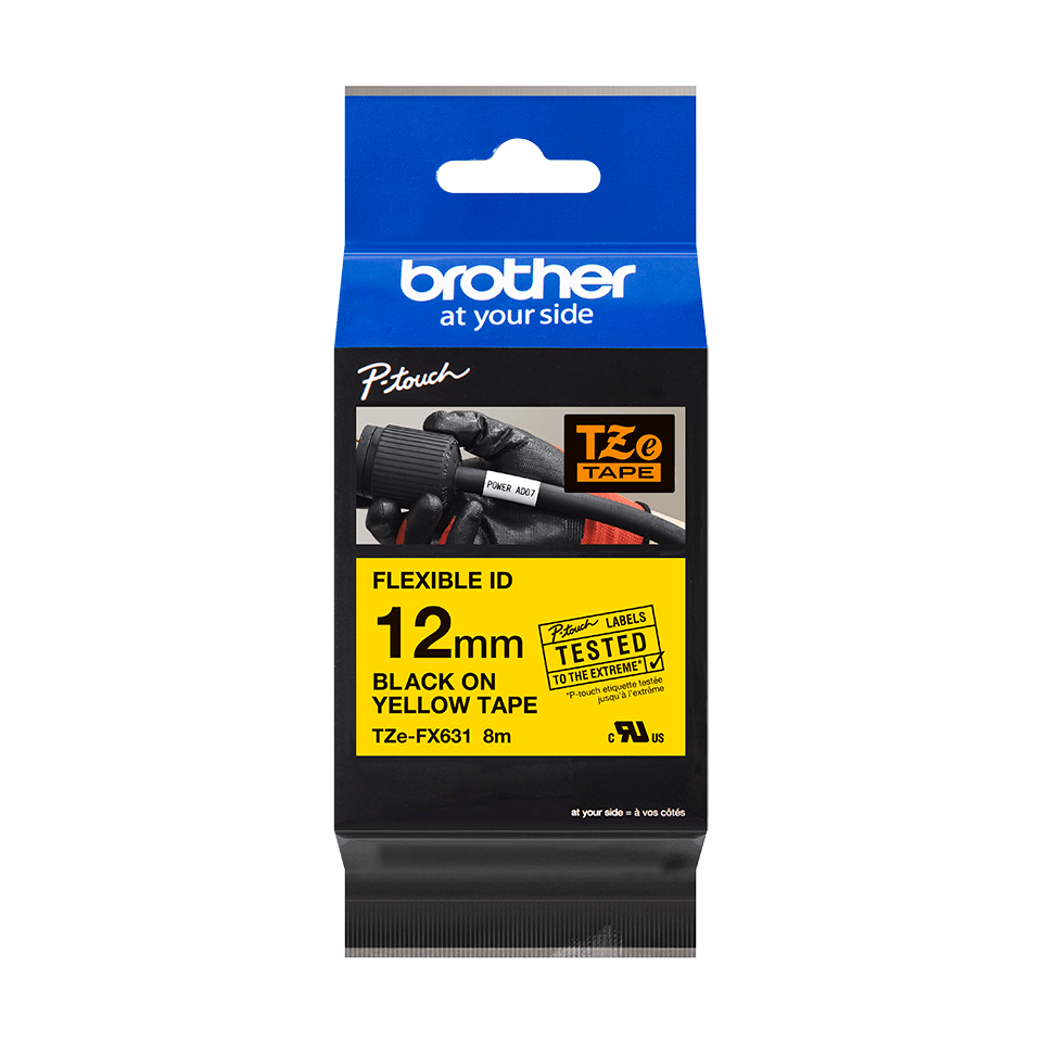 Originalna Brother TZe-FX631 kaseta s fleksibilnom ID trakom za označavanje 3