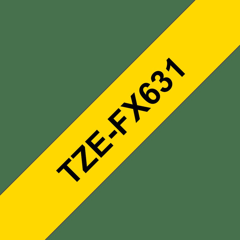 Originalna Brother TZe-FX631 kaseta s fleksibilnom ID trakom za označavanje