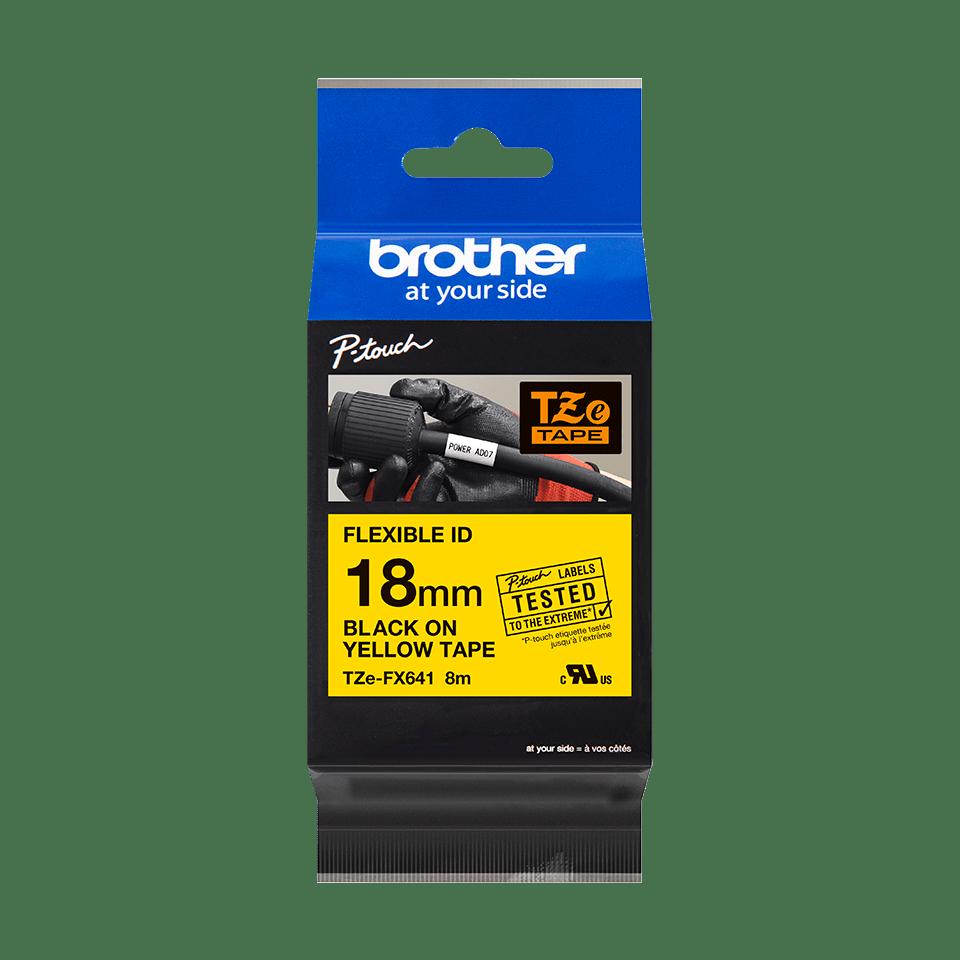 Originalna Brother TZe-FX641 kaseta s fleksibilnom ID trakom za označavanje 3