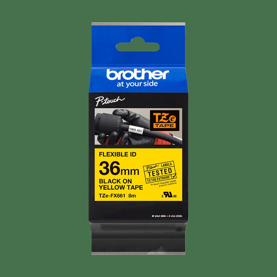 Originalna Brother TZe-FX661 kaseta s fleksibilnom ID trakom za označavanje 3