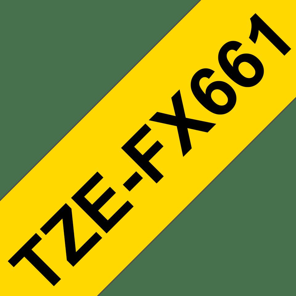 Originalna Brother TZe-FX661 kaseta s fleksibilnom ID trakom za označavanje