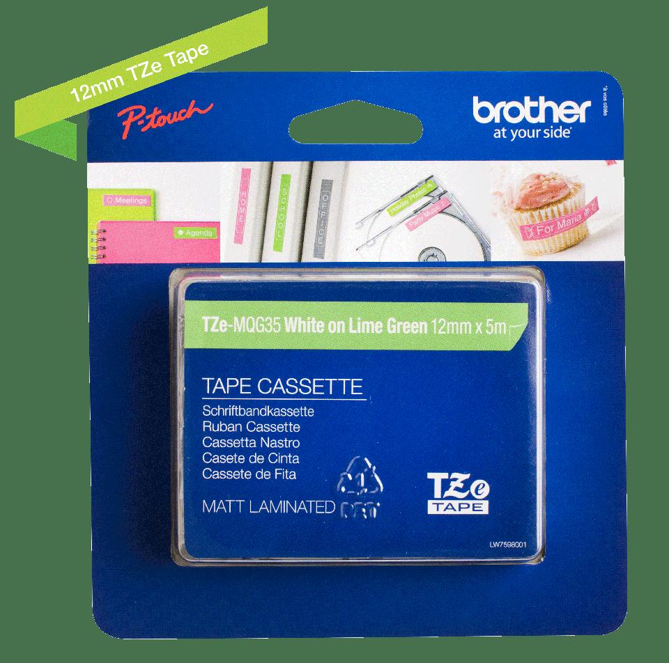 Originalna Brother TZe-MQG35 kaseta s trakom za označavanje 3