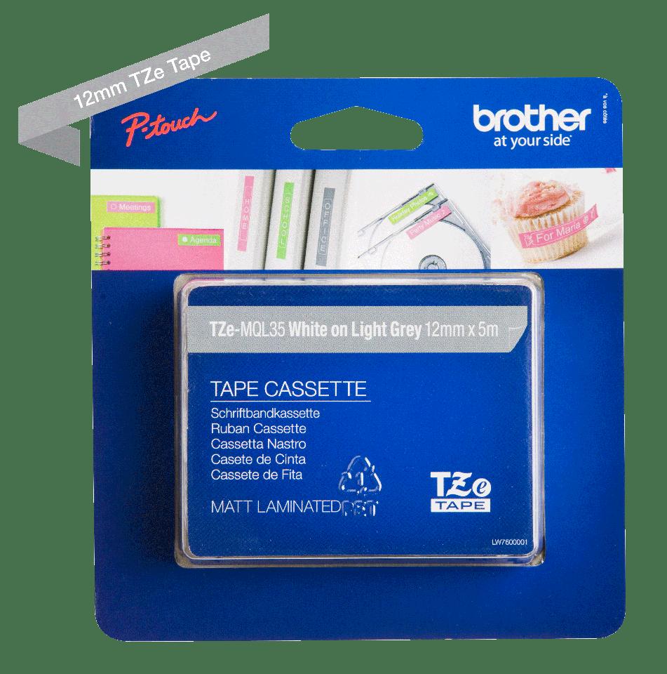 Originalna Brother TZe-MQL35 kaseta s trakom za označavanje 3