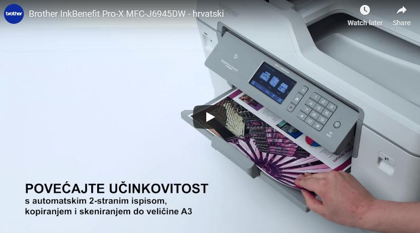 MFC-J6945DW bežični A3 tintni višenamjenski uređaj u boji za ispis, kopiranje, skeniranje i faksiranje* 7